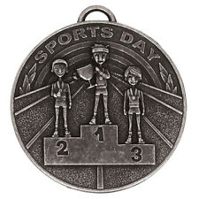 AM939S BULK PURCHASE X 10  RESIN SPORTS DAY MEDAL SIZE 50MM FREE NECK RIBBON