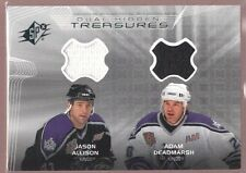 JASON ALLISON ADAM DEADMARSH $25 KINGS JERSEY PATCH SP 2001-02 UD SPX TREASURES