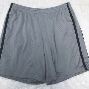 Mens Champion Size XL Extra Large Light Gray Mesh Athletic Shorts