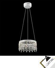 Moderne Lampe de Couronne à Suspension Luminaire Limpide Mat Blanc Led