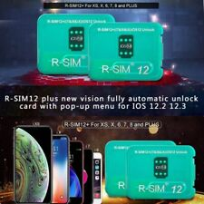 RSIM12+ R-SIM Nano Unlock Card for iPhone XS MAX/XR/XS/8/7/6 4G iOS 12.3 11 CA