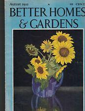 Better Homes U0026 Gardens Magazine August 1932 Sunflowers