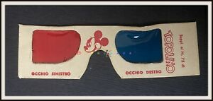 ⭐ OCCHIALINI 3D ORIGINALI allegati al Topolino 75 - Disney 1953 - DISNEYANA.IT ⭐