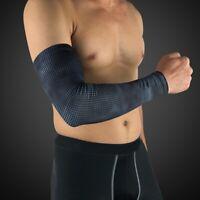 Men Elbow Arm Sleeve Arthritis Support Brace Sports UV Sun Protection Sleeve US