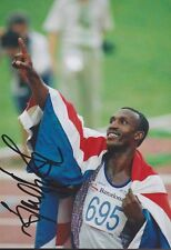 LINFORD CHRISTIE 4 Olympia 13x18 signiert IN PERSON Autogramm signed RAR