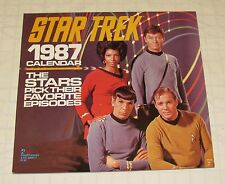 Vintage 1987 Star Trek Calendar The Stars Pick Their Favorite Episodes VG