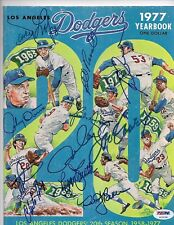 1977 Dodgers' Signed Yearbook Garvey-Lopes-Cey-Smith-Baker-Russell + JSA Cert.