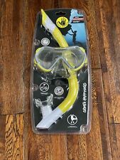 New listing Body Glove Junior Grape Swimming Diving Mask and Snorkel Set for Youth (Yellow)