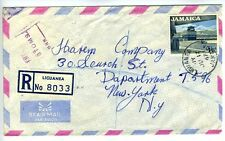 Liguanea Jamaica Registered Air Mail Letter 1967 Cover