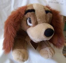 "Walt Disney LADY & The Tramp Plush 14"" Stuffed Cocker Spaniel Dog Collar/Tags"