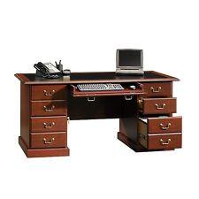"NEW Sauder Office EXECUTIVE Desk, Computer Table, 65"" Model, Cherry, FREE Ship"