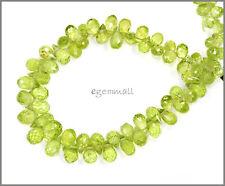 50ct Peridot Teardrop Briolette Beads ap.4x6mm #85307