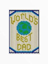 World'S Best Dad~Pony Bead Banner Pattern