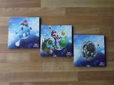 SUPER MARIO GALAXY CANVAS WALL ART PLAQUES/PICTURES SET- FREE POSTAGE