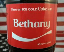 Share A Coke With Bethany Limited Edition Coca Cola Bottle 2017 USA