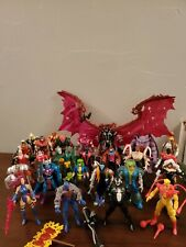 Vintage marvel action figures lot of 26 including weapons and accessories