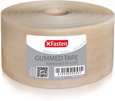 275 X 375 Feet Brown Packing Tape Gummed Kraft Paper Roll For Mailing Sealing