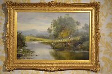 Beautiful 19th Century oil on canvas of country scene signed D Sherrin