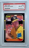 1987 Leaf Mark McGwire #46 PSA 8 NM-MT Rookie RC - Incredible Color!