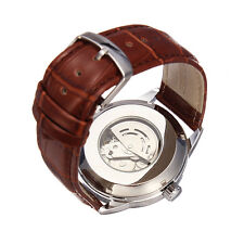 SEWOR Leather Mechanical Simple Style Automatic Men Watch