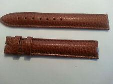 Original LONGINES Genuine Leather brown strap 18mm