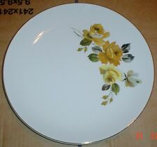 Myotts Of Staffordshire Fine White Yellow Gold Roses Dinner Plate