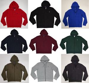 Men Polo Ralph Lauren Full-Zip Double Knit Hoodie Soft Cotton - S M L XL XXL