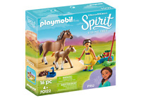 Playmobil 70122 Dreamworks Spirit Riding Free: Pru with Horse & Foal Figure Pack