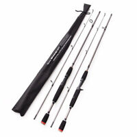 Professional Carbon 2 sections GLS Fishing Rod Travel 1.8m/5.9ft Spinning Castin