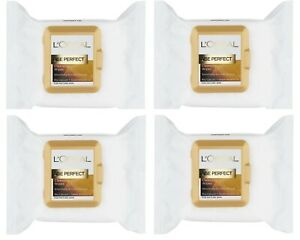 4 × L'Oreal Paris Age Perfect Cleansing Wipes 100 Wipes