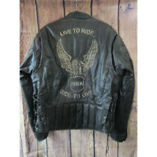Xelement Retro Live to Ride leather motorcycle jacket SIZE LARGE