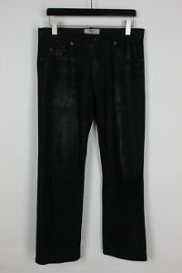 ARIZONA Men's D 50 or ~LARGE Black Genuine Leather Trousers 33638-GS