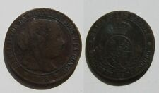 ISABEL II ,  1/2 MEDIO  CENTIMO DE ESCUDO DE 1868 , SEVILLA