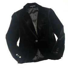Theory Black Velvety One Button Blazer Jacket Womens Size 2