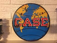 "Reproduction Case Tractor Farm Equipment GLobe Laser Cut Out Sign 14""Steel"