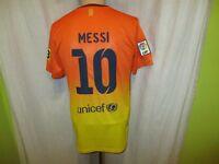 "FC Barcelona Nike Auswärts Trikot 12/13 ""Qatar Foundation"" + Nr.10 Messi Gr.S- M"