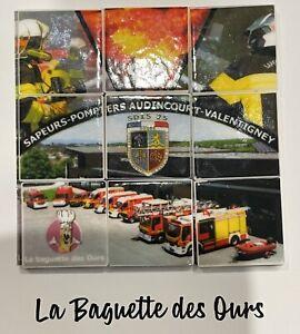 Nouveauté 2021 Série complète de 9 Fève Puzzle Personnalisé Pompier D'Audincourt