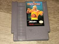 WWF Wrestlemania Nintendo Nes Cleaned & Tested Authentic