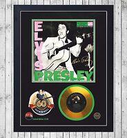 ELVIS PRESLEY 60 YEARS CUADRO CON GOLD O PLATINUM CD EDICION LIMITADA. FRAMED