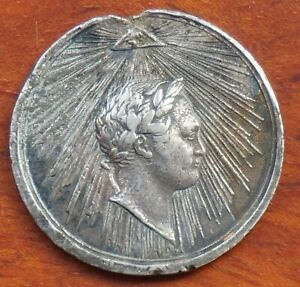 Napoleon medal 1814, silver, 29mm. text & date on reverse