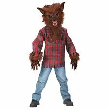 WEREWOLF BROWN REALISTIC WOLF CHILD HALLOWEEN COSTUME BOYS SIZE MEDIUM 8-10