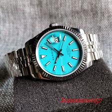 PARNIS BLUE 21 Jewels MIYOTA 8215 Mechanical Men Watch Jubilee Bracelet Sapphire