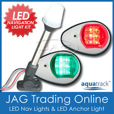 12V LED WHITE NAVIGATION & ANCHOR LIGHT KIT - Boat/Marine/Port/Starboard/Stern