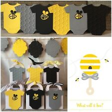 24 Embossed Thank You Favor Boxes For A Bee Themed Baby Shower + Bee Hive Banner