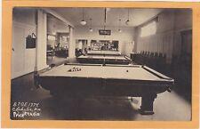 Real Photo Postcard RPPC - BPOE Odd Fellows Pool Billiards Room Chehalis WA