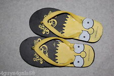 Boys Flip Flop Sandals BART SIMPSON Yellow Black BAD TO THE BONE  L 1-2
