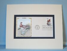 State Bird & Flower of Alaska - Willow Ptarmigan & Forget Me & First Day Cover