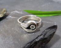 Designer 925 Silber Ring NX Ninex Korut Oy Finnland Turku Bergkristall Elegant