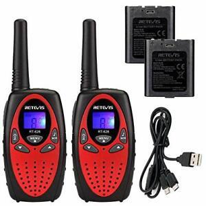Retevis RT628 Talkie-walkie pour Enfants Rechargeable avec Batteries Li-ION et C
