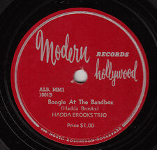 HADDA BROOKS TRIO - Modern 100 - Boogie at the Bandstand - red wax at light - 78